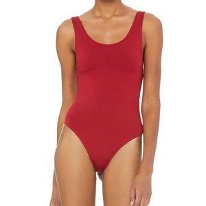 9755827212 ALO Yoga Intimates & Sleepwear | Goddess Leotard Red | Poshmark